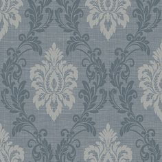Adela Denim Twill Damask Brewster Wallpaper Wallpaper Brewster Wallcoverings Blues Damask Wallpaper Designer Wallpaper Textured Wallpaper, Fabric Backed Vinyl, Easy to clean , Easy to wash, Easy to strip Damask Wallpaper, Textured Wallpaper, Designer Wallpaper, Commercial Wallpaper, Brewster Wallpaper, Wallpaper Warehouse, Blue Wallpapers, Pattern Names, Commercial Interiors