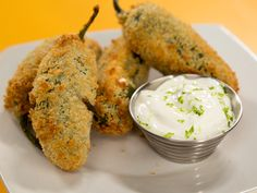The air-fryer jalapeño poppers allow you to enjoy everything you love about crispy pepper poppers without all of the not-so-lovable mess that comes with deep-frying. Jalapeno Popper Dip, Fried Jalapeno Poppers, Fried Jalapenos, Stuffed Jalapeno Peppers, Fried Dill Pickles, Pepper Poppers, Beet Chips, Poppers Recipe, Caribbean