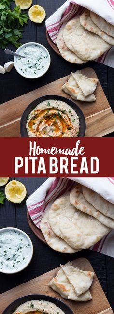 This simple Homemade Pita Bread is easy to make and better than anything you can buy at the store! Learn to make pita bread at home. Homemade Pita Bread Pita bread is one of those Homemade Pita Bread, Pita Bread Recipes, Flatbread Recipes, Homemade Pasta, Ma Baker, Cooking Recipes, Healthy Recipes, What's Cooking, Healthy Foods