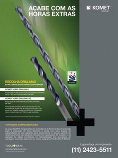 Anúncio da Komet para a revista Manufatura em Foco. #layout #design #ad
