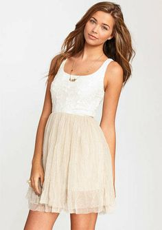 Embroidered Flower Mesh Dress  - this dress is so cute....i want to get it for Church and special occasions!!!!!