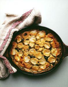 里芋とホウレンソウの豆乳グラタン
