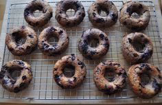 blueberry donuts, donuts, healthy snacks