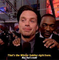Sebastian's reaction is the best.