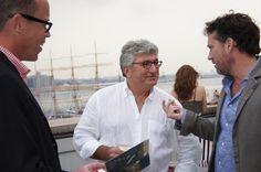 In the city with winemaker Alberto Longo.