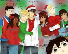 Merry Christmas! (Heroes of Olympus) by MissKadaj on deviantART