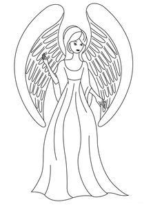 cartoon angel coloring pages | Free Printable Angel Coloring Pages For Kids | angels to ...
