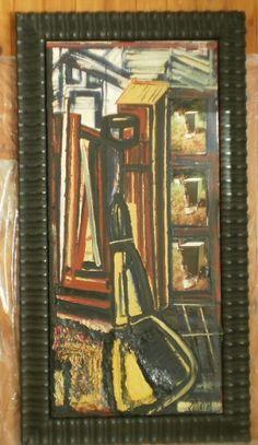 Elemento d'istinto di un quadro d'ingresso 50x109 olio, smalto, encausto,elemento fotografico