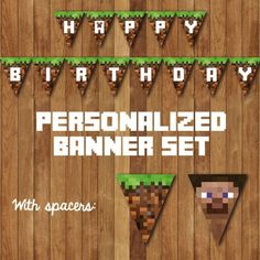 Minecraft+Happy+Birthday+Banner+Printable