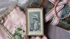 New to NostalgiqueBoutique on Etsy: Elegant Antique French Beveled Glass Photo…
