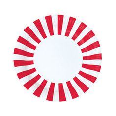 Paper Plates - Red and White Stripe – Petite Party Studio
