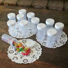 20 Plastic JARS White Caps RX  Gag Container Bottles Prescription #3814 DecoJars #DecoJars