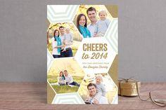 Bright + Geometric Holiday Photo Cards