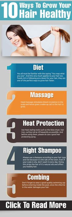 Top 10 Ways To Grow Your Hair Healthy
