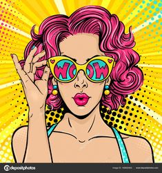Pop Art Girl Wow Canvas Print Crafted In London Quality Assured