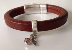 Belle Armband Ovaal Leer | Leren armbanden | Ma Belle Bijoux