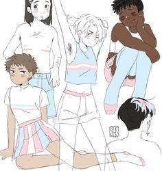 "s-a-ngel: ""*draws femenine trans men* *draws femenine trans men* *draws femenine trans men* *dra [t. Character Inspiration, Character Design, Character Art, Transgender Ftm, Trans Boys, Trans Art, Trans Rights, Lgbt Memes, Genderqueer"