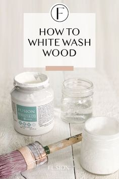 Learn how to white wash wood with Fusion Mineral Paint - this tutorial provides the simple to for how to get this trendy look. White Washed Pine, White Washed Floors, White Washed Furniture, Painted Furniture, White Wood, Color Washed Wood, Distressed Furniture, Funky Furniture, White Stain On Wood