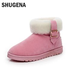 A Hot Sale Shoes Women Fashion Boots Botas Mujer Fur Snow Boots Women Ankle Boots Flat Heels Winter Boots Shoes Women Snow Shoes #Affiliate