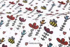 Flower fabric Flower pattern 44x35 100% Cotton Scandinavian Fabric, Flower Fabric, Flower Patterns, Snoopy, Cotton, Art, Flower Drawings, Floral Patterns, Kunst