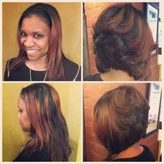 Beautiful cut and color Natural Hair Styles, Short Hair Styles, Bob Styles, Blowout Curls, Grow Long Hair, Relaxed Hair, Gorgeous Hair, Beautiful, Hair Dos