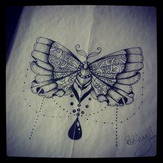 Butterfly tattoo. Mehendi, dotwork and blackwork. Find me on Facebook Ruth tattooist or fourleaf tattoo. Tattoo Ideas, Tattoo Designs, Black Tattoo, Tattoo, Girly Tattoo.