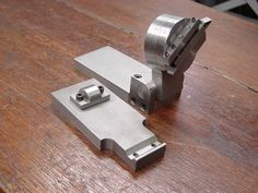 """Tool grinding fixture and 3"""" sine table (for setting up grinding angles within a few seconds)."""
