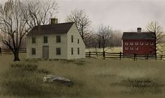 Image detail for -New England Saltbox by Billy Jacobs - Art Print Framed & Unframed at ...