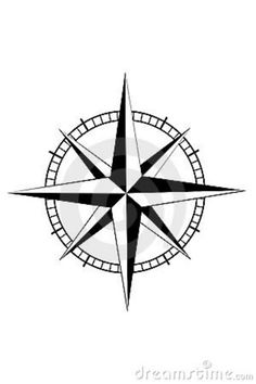 Nautical compass for mom and dad tattoo. Place above right arm of anchor.
