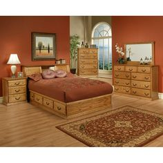 Traditional Oak Platform Bedroom Suite - Cal King Size Items included in this Bedroom set: Qty: 1 - OD-O-T456-CK - Traditional Oak Platform Bed - Cal King size