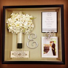 Floral preservation, keepsake, framed flowers, wedding invitation, photo. Freeze Dried.