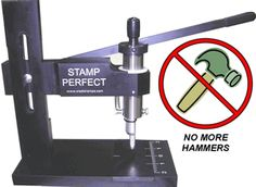 Stamps and hands on pinterest for Metal stamping press for jewelry