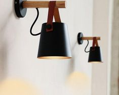 LED Modern Nordic Style Wall Lamps Wood Wall Lamps Bed Bedside Light White & Black Lampshade Home Decor Wall Light Wooden Wall Lights, Industrial Wall Lights, Led Wall Lights, Wood Wall, Indoor Wall Sconces, Led Wall Lamp, Wall Mounted Lamps, Bedside Lighting, Wall Sconce Lighting