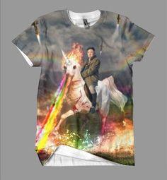 Holy cow i want this now!! Rainbow Unicorn Kim Jong Un – Shirtwascash