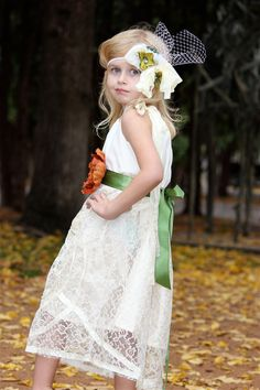 Girls+Luxe+Lace+Sleeveless+Flower+Girl+Dress+by+chachalouise,+$65.00