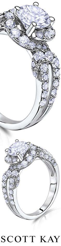 Beautiful Scott Kay Halo Diamond Engagement Ring. Product Style: M2201R510WW #ScottKay #EngagementRings #Diamonds