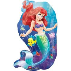 "Little Mermaid Friends 29"" Shape Balloon (Each) - Party Supplies"