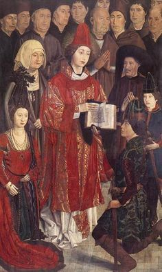 Nuno Gonçalves, Saint Vincent with the Portuguese Royal Family, panel from the Altarpiece of Saint Vincent (ca. 1465-67)