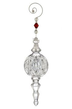 """$64.99-$75.00 This dated Waterford Crystal Ornament comes with a jeweled 3"""" ornament hanger and removable 2010 hang tag."""