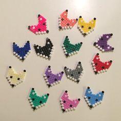 Foxes hama beads by annaidag