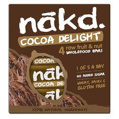 Cocoa delight: héérlijk tussendoortje, raw, suikervrij en bestaand uit volgende eenvoudige ingrediënten: dadels, cashewnoten, rozijnen, cacao en een vleugje natuurlijk aroma