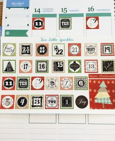 Christmas Countdown Stickers for Erin Condren by TwoLittleSparkles