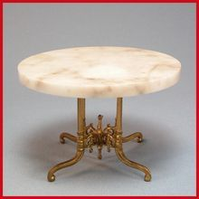 Late Victorian Dollhouse Round Marble Top