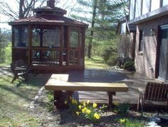 screened gazebo and floating bench in lebanon ohio warren county decks photo gallery archadeck - Screened Gazebo