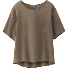 WOMEN SILK HALF SLEEVE T BLOUSE | UNIQLO