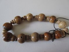 String of stained ivory beads from Nepal
