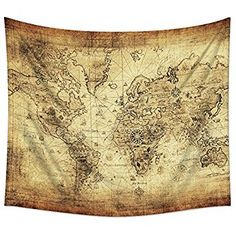 Mugod old fashioned world map wall tapestry hanging pol https amazon mugod old fashioned world map wall tapestry hanging polyester fabric gumiabroncs Gallery