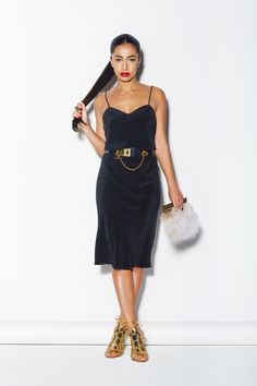 """Found! Your Complete Spring Wardrobe  #refinery29  http://www.refinery29.com/armani-exchange#slide-6  Yep, we can see how the same dress with heels is a nighttime-only look. """"At night, you can take off the original belt, throw on some heels, and just walk out the door. The dress speaks for itself here; you don't need to overly accessorize it.""""  This outfit seems like it would make a big statement on the dance floor. Fitting, since you grew u..."""