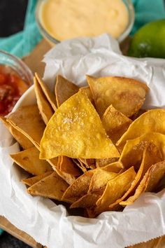 Only three ingredients in these super easy Homemade Air Fryer Tortilla Chips and you can make them in minutes. Baking instructions included! Homemade Tortilla Chips, Homemade Tortillas, Homemade Salsa, Snack Recipes, Dessert Recipes, Snacks, Desserts, Cooking With Olive Oil, Desert Recipes