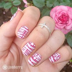 Love these nail wraps and the ring she is wearing. https://catherineloomis.jamberry.com/